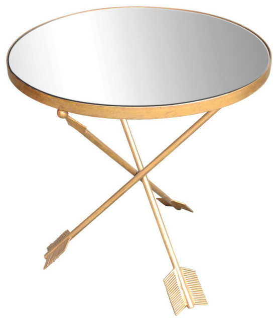 Sagebrook Home Gold Arrow Accent Table Mirror Top