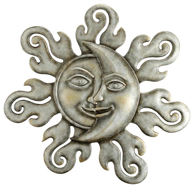 Sun Moon Half Face Wall Plaq