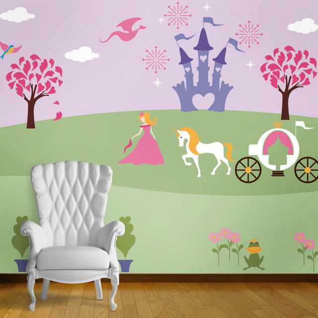Perfectly Princess Bedroom Wall Mural Stencil Kit For Painting
