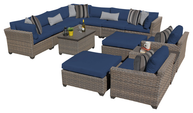 Monterey 13 Piece Outdoor Wicker Patio Furniture Set 13a