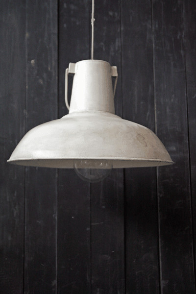 Large vintage ceiling lamp shades white distressed metal aloadofball Gallery