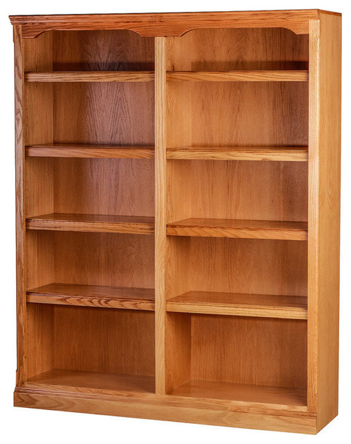 Traditional Oak Bookcase, Natural Alder