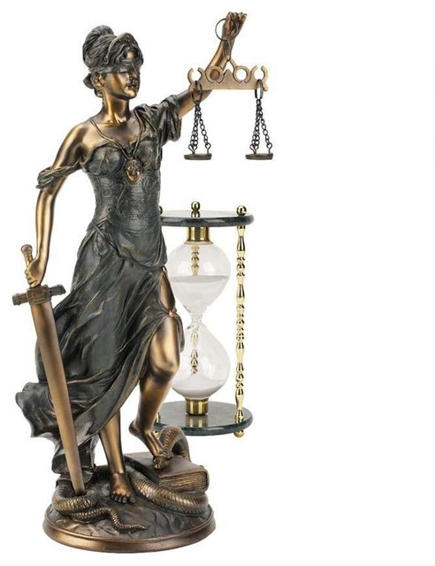 16 Quot H Greek Goddess Of Blindfolded Justice Bronze Statue