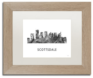 Marlene Watson 'Scottsdale Arizona Skyline' Matted Framed Art - Contemporary - Prints And ...