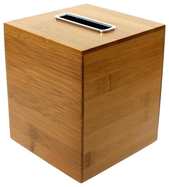 Square Bamboo Tissue Box
