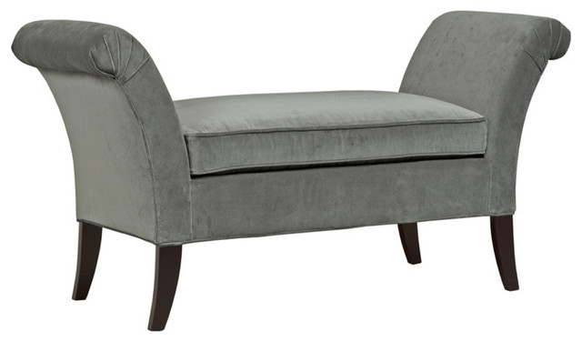 Kyle Flair Arm Bench, Gray.