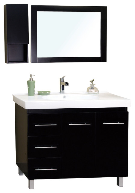 39 Inch Single Sink Vanity-Wood - Contemporary - Bathroom ...