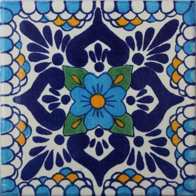 4.2x4.2 9 Pcs Montijo Talavera Mexican Tile.