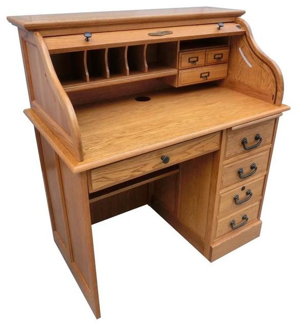 42 Quot Moon Student Roll Top Desk Burnished Walnut Desks