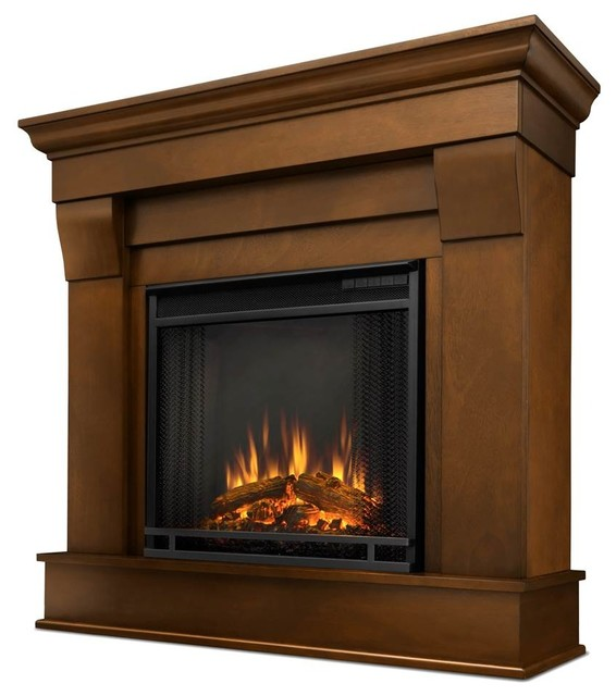 Chateau Electric Fireplace, Espresso Finish - Contemporary ...