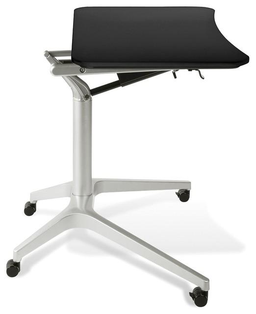 Jesper Office 201 BLK Workpad Height Adjustable Laptop Cart Mobile Desk