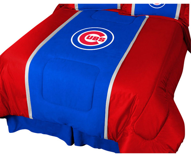 mlb chicago cubs comforter baseball mvp bedding - contemporary