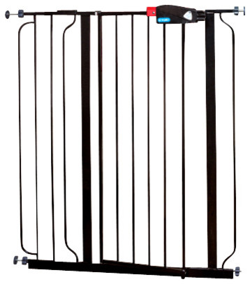 Regalo Extra Tall Easy Step Gate, Black