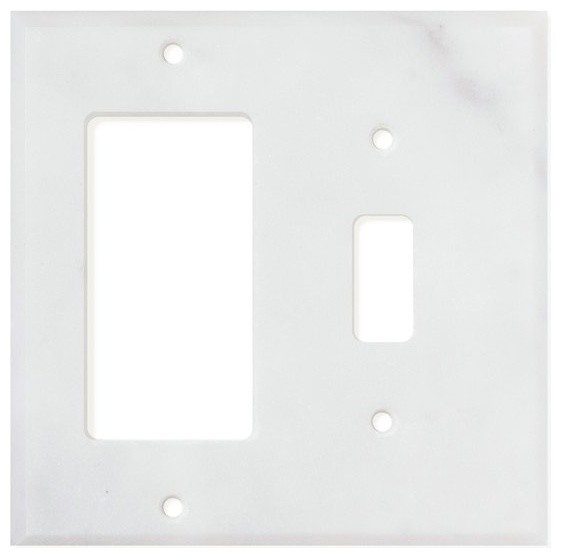 Carrara White Marble Switch Plate Cover Toggle Rocker