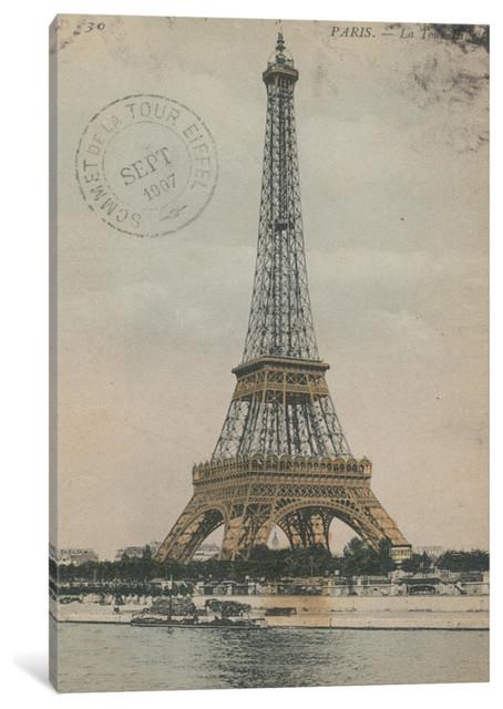 """""""la Tour Eiffel Iii"""" By Wild Apple Portfolio, 40x26x.75."""