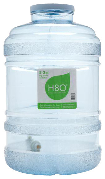 h8o 5 gallon water bottle with 120mm bigmouth u0026 dispensing valve - 5 Gallon Water Bottles