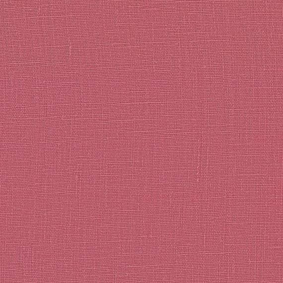 Dark Pink Lightweight Linen Fabric