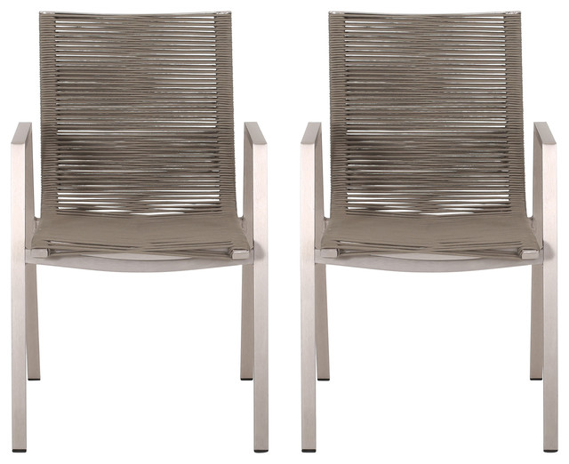 Elma Outdoor Modern Dining Chair With