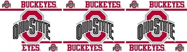 NCAA Ohio State Buckeyes Self Stick Wall Border