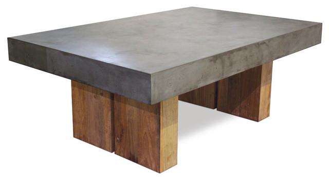 Reclaimed Teak Samos Coffee Table, Slate Gray modern-outdoor-coffee-tables