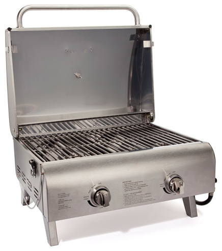 Chefs Style Stainless Tabletop Gas Grill.