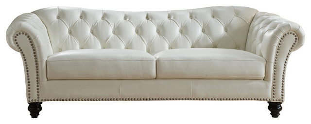 Mona Leather Craft Sofa Traditional Sofas By Kemp