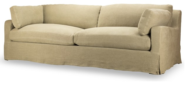 Hampton Slipcover Sofa, Hopstack Natural Linen