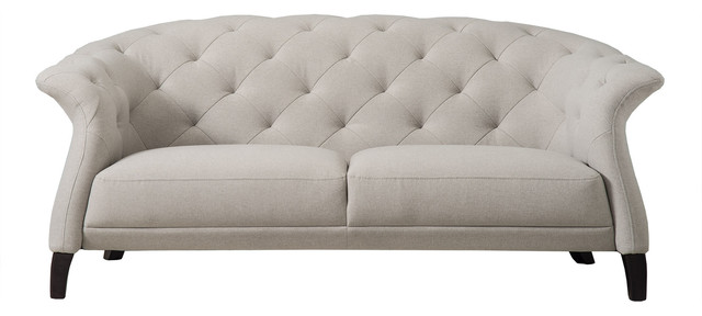 Crispin Chesterfield Sofa, Light Grey, 2-Seater