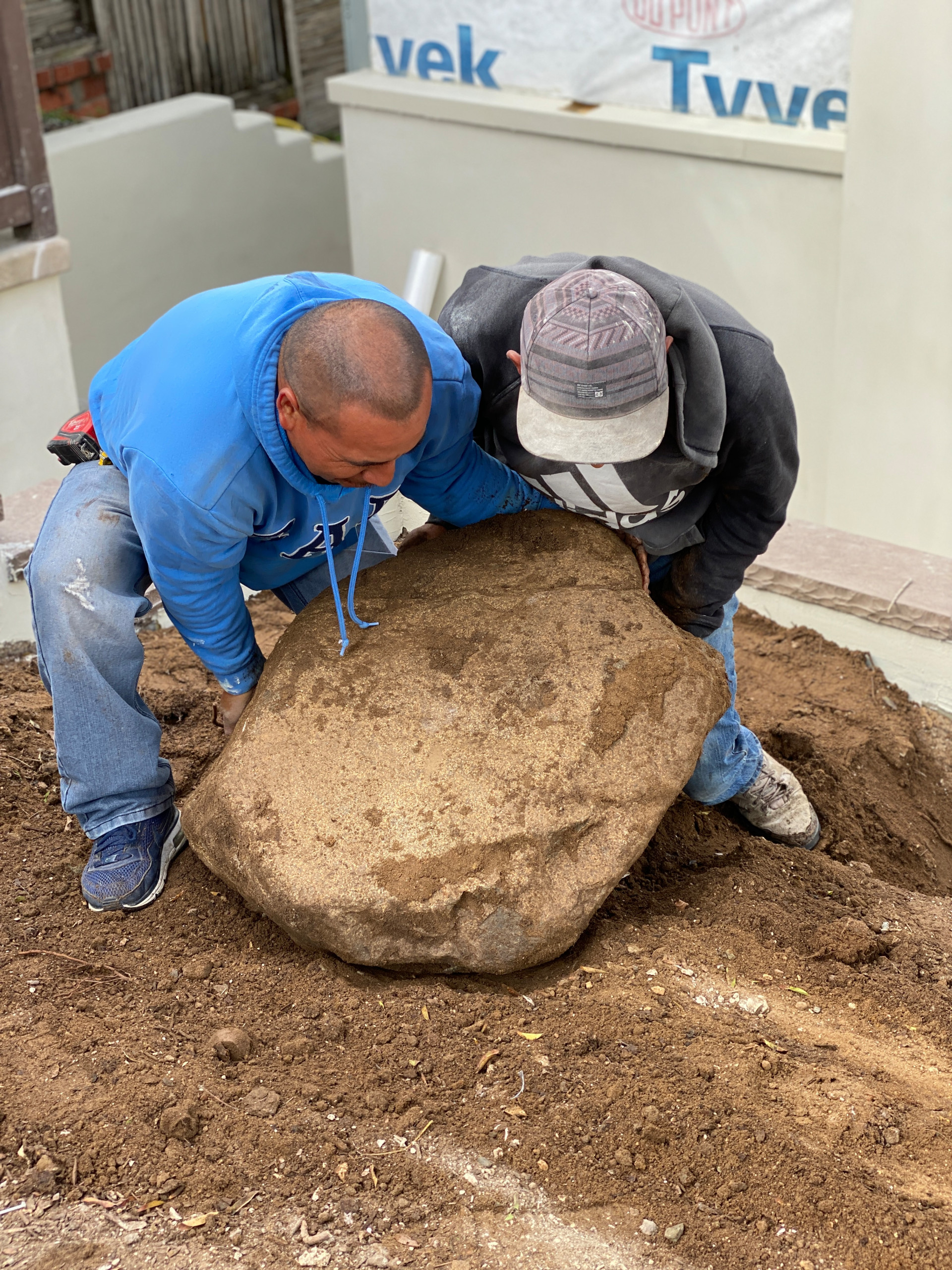 Moving a VERY Heavy Boulder Into Place