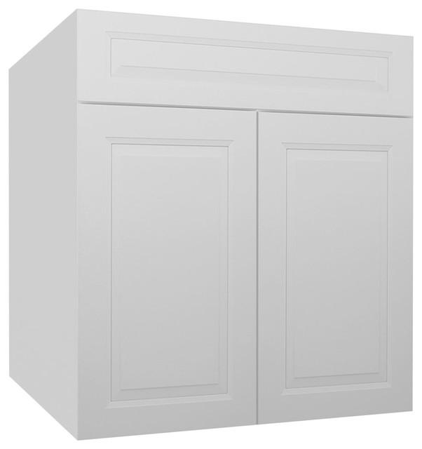 Gramercy White Kitchen Base Cabinet-SB27B - Contemporary ...