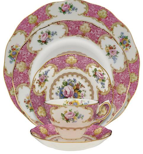 royal albert lady carlyle 20 piece place setting classique service de vaisselle par the. Black Bedroom Furniture Sets. Home Design Ideas