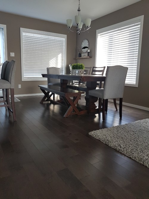 Curtains Or No Open Concept Kitchen Playroom Livingroom