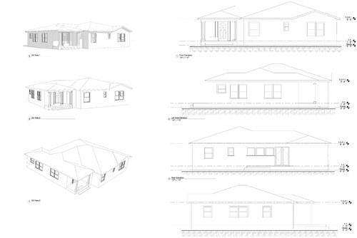 roofline design corner house single story addition - Roof Line Designs