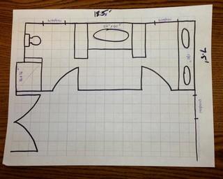 In need of master bath floor plan help for Floor plan assistance
