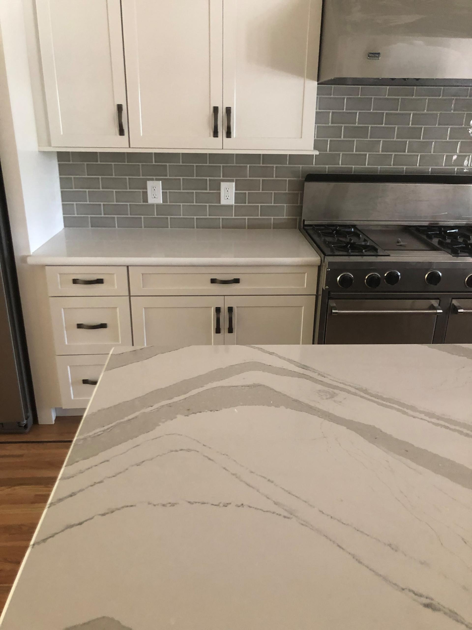 Gray and White Modern Kitchen