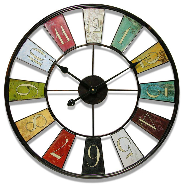 Kaleidoscope Wall Clock Eclectic Clocks
