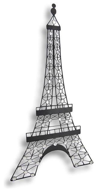 Eiffel Tower Wall Decor black metal decorative eiffel tower wall art hanging - traditional