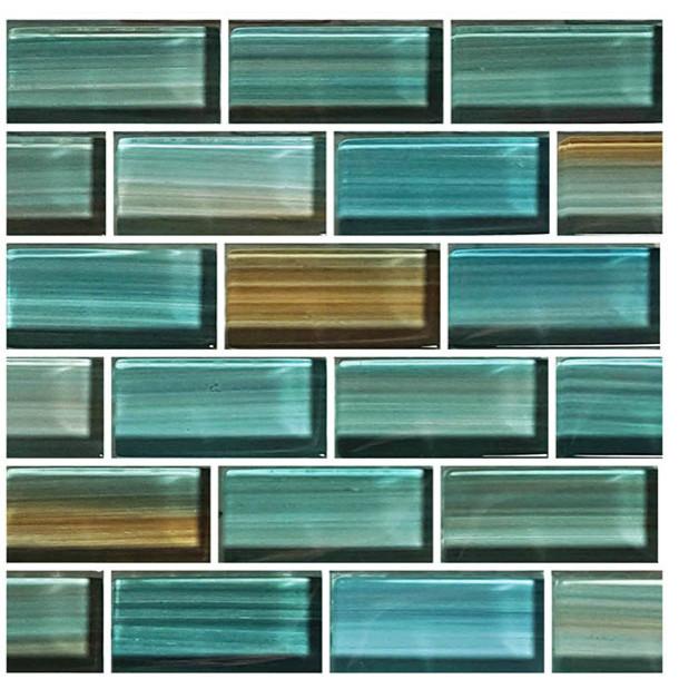 12x12 Glass Tile Blends Watercolors Series Modern Mosaic