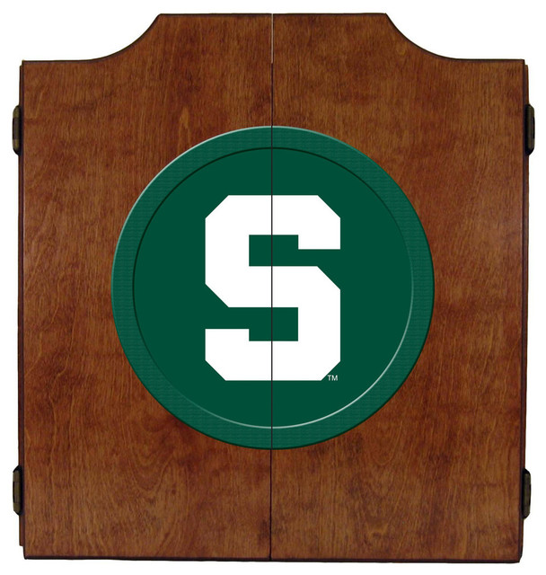 Wave 7 - Michigan State Spartans Dart Board Cabinet & Reviews | Houzz