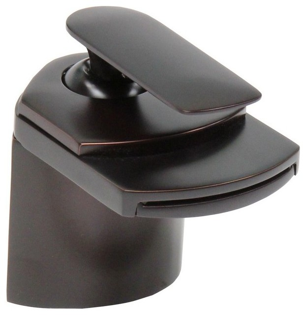 Dyconn 4 1/2 Inch Waterfall Bathroom Sink Faucet, Oil Rubbed Bronze