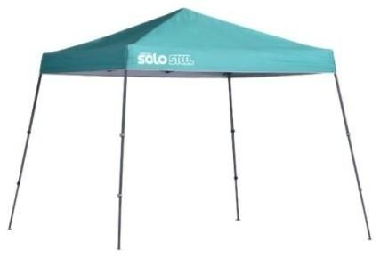 Shelter Logic 10&x27;x10&x27; Quik Shade Solo64 Slant Leg Canopy, Turquoise.