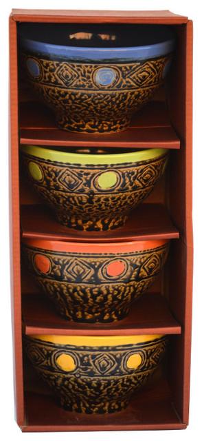 4-Piece Southwest Salsa Bowl Box Set.