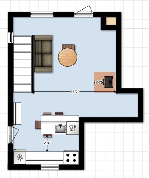 Help on very small kitchen layout for Kitchen layout help