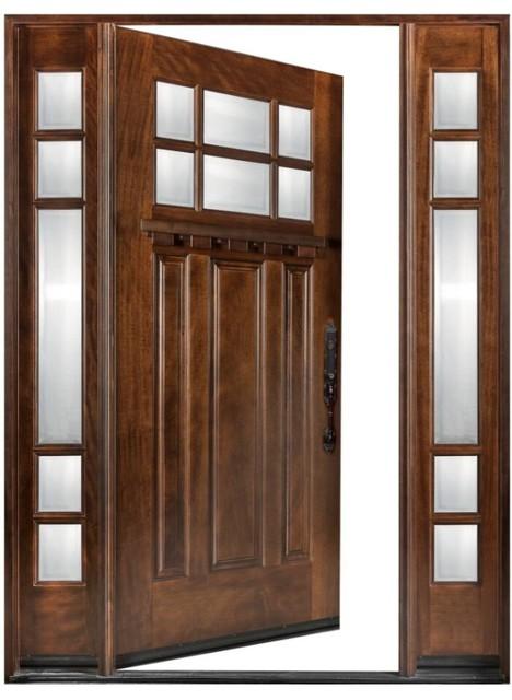 Exterior Front Entry Wood Door Huntington M36 12 36x80 Left Hand
