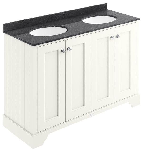 1200 mm 4-Door Basin Cabinet, Pointing White