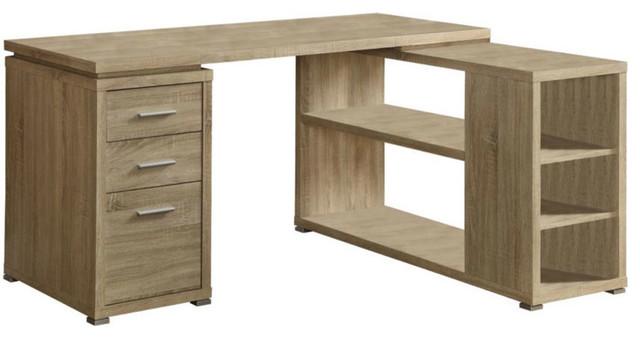 Office Corner Desk Reclaimed Wood Dark Taupe Reclaimed Look
