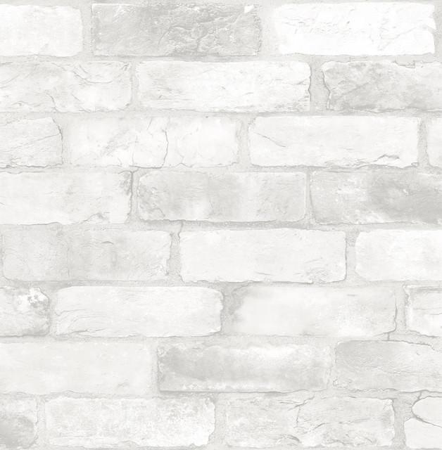 Loft White Brick Peel & Stick Wallpaper, Bolt.