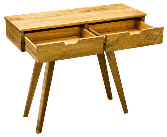 Mid Century Mango Wood Console Table Midcentury Console Tables