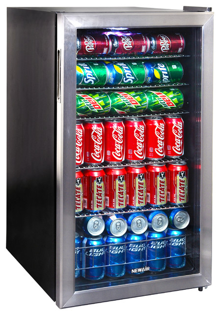 Newair 126-Can Stainless Steel Beverage Cooler, 126 Can.