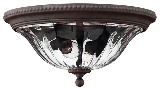 Hinkley Lighting H1243 Oxford 2-Light Outdoor Flush Mount Ceiling Fixture.